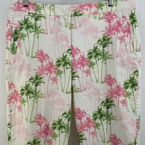 Tommy Bahamas Womens Palm Trees Pink Green Stretch